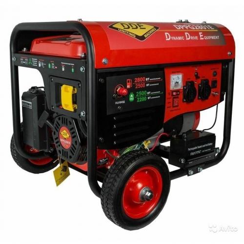 Генератор газ/бензин DDE DPPG2801Е
