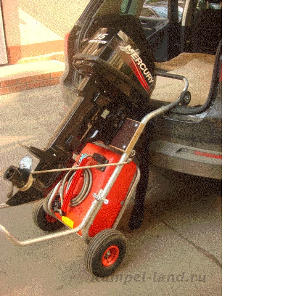 Тележка ТМ-2 для перевозки лодочного мотора