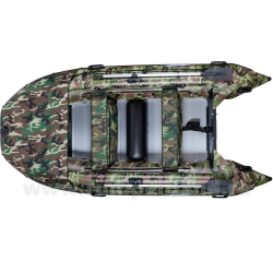 Лодка Гладиатор (Gladiator) Professional D420AL FB КМФ с фальшбортом