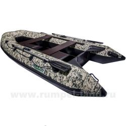 Лодка Омолон (Omolon) SLDK A-340 DP КМФ камуфляж зеленый пиксель