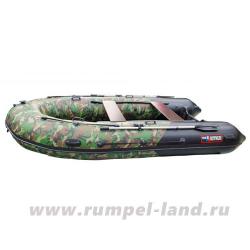 Лодка Хантер 380 ПРО Зеленый КМФ