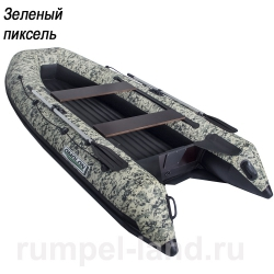 Лодка Омолон (Omolon) SLD 360 IB зеленый пиксель