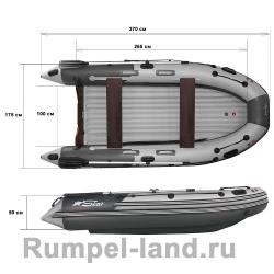 Лодка SKAT-Тритон-370 пластиковый транец