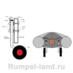 Транцевые колеса съемные для пайольных лодок
