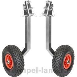 Транцевые колеса усиленные откидные (3 положения) для лодок - пайольных, НДНД